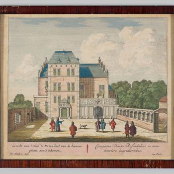 Het voorplein van kasteel Rosendael