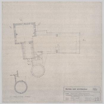 Plattegrond van de tweede verdieping van kasteel Nederhemert