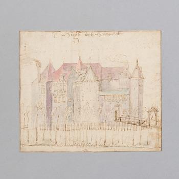 Gezicht op kasteel Nederhemert