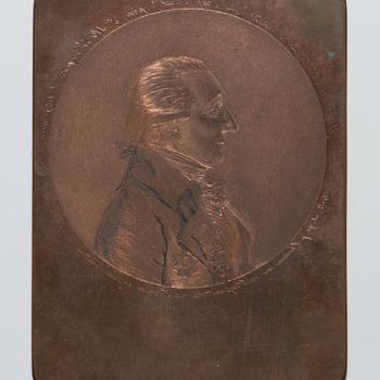 Drukplaat voor portret van Gerard Brantsen