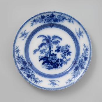 Plat bord met palmboom decor