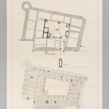 Plattegronden van kasteel Hernen