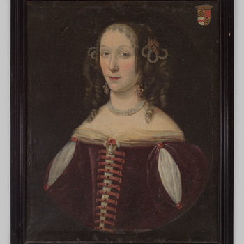 Portret van een dame uit het geslacht Van Haersolte