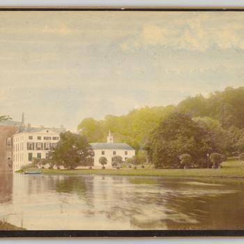 Ingekleurde foto van kasteel Rosendael