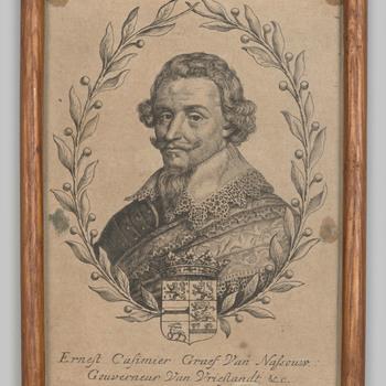 Portret van Ernst Casimir graaf van Nassau