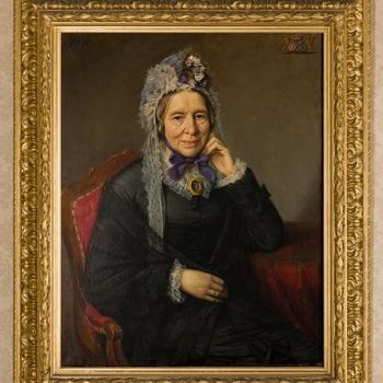 Portret van Charlotta Theodora Maria Alexandrina barones van Oldeneel tot Oldenzeel