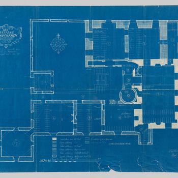 Plattegrond van kasteel Doorwerth