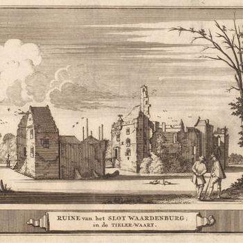 De ruïne van kasteel Waardenburg