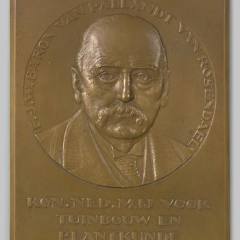 Plaquette met een portret van Frederik Jacob Willem baron van Pallandt