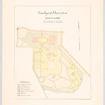 Kaart van landgoed Staverden