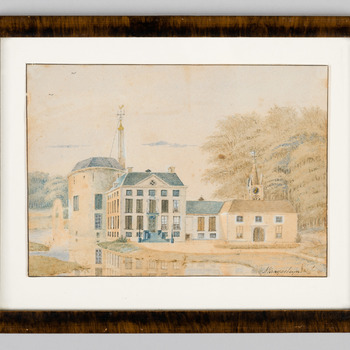 Gezicht op kasteel en park Rosendael