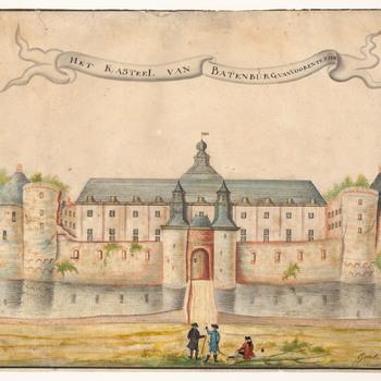 Vooraanzicht van kasteel Batenburg