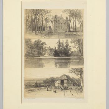Gezichten op kasteel Biljoen, kasteel Rosendael en de Rosendaelse schaapskooi