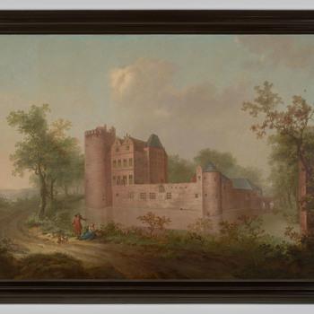 Gezicht op kasteel Rosendael in gefantaseerd landschap