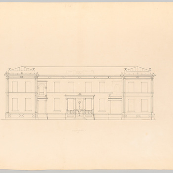 Ontwerp voor huis Schaffelaar in classicistische stijl