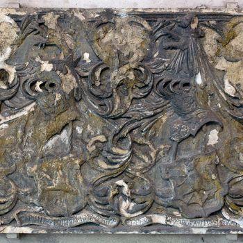 Wapensteen met de wapens van Reyner van Wijhe en Margaretha van Egeren