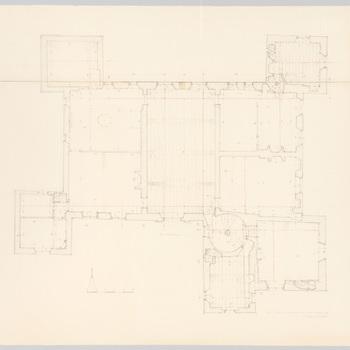 Plattegrond van de eerste verdieping van kasteel Cannenburch