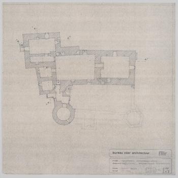 Blauwdruk van de kelder van kasteel Nederhemert