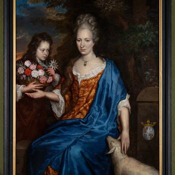 Portret van Joanna Anna van Zwethen en haar zoon