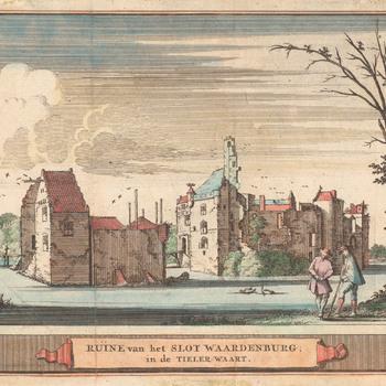 De ruïne van Waardenburg