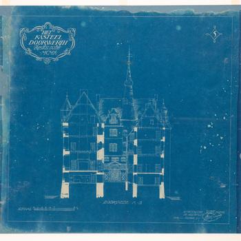 Blauwdruk van kasteel Doorwerth