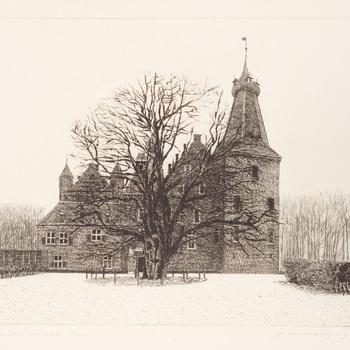 Kasteel Doorwerth in wintersfeer