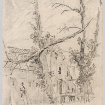 Het poortgebouw van kasteel Doorwerth