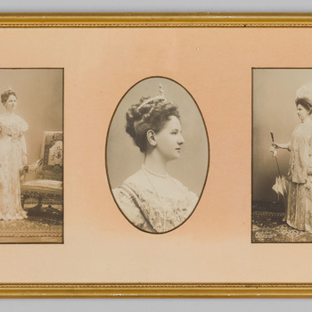 Drie foto's van Koningin Wilhelmina
