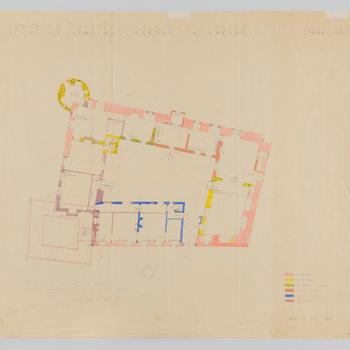 Plattegrond van kasteel Hernen