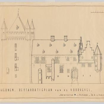 Restauratieplan van de voorgeven van kasteel Hernen