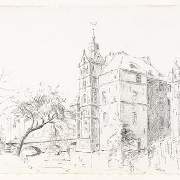 Gezicht op kasteel Cannenburch