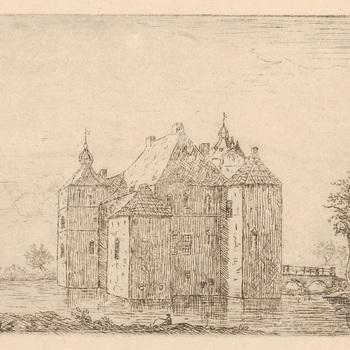 Westzijde van kasteel Cannenburch