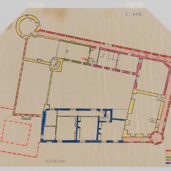 Verschillende bouwfasen van kasteel Hernen