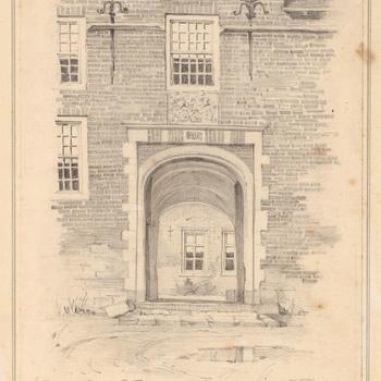 De toegangspoort van kasteel Hernen