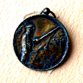 Medaille voor tweede prijs vendelen concours Oud-Zevenaar 1950