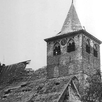 De NH-Kerk bij de bevrijding.  WOII,wo