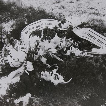 graven van gesneuvelde soldaten.  WOII.