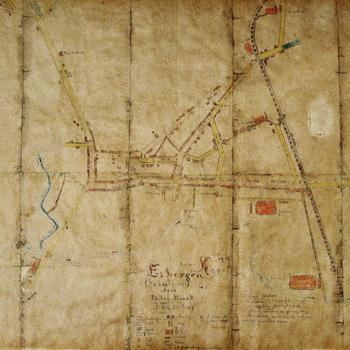 Plattegrond van Eibergen 1917