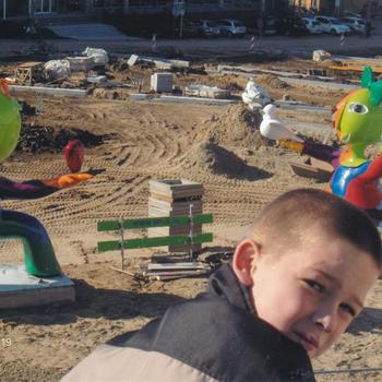 Ede, inrichten van het plein bij het Gemeentehuis