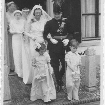 Het bruidspaar Fischer - Van Rijn