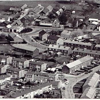 Harskamp - luchtfoto van de kern van Harskamp