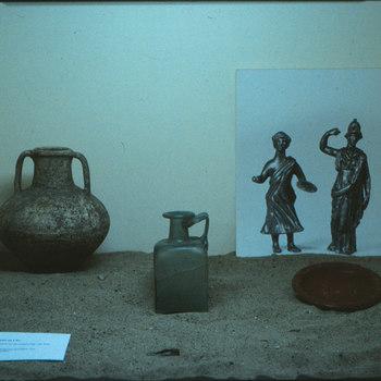 Bronzen beeldjes uit Romeinse tijd.