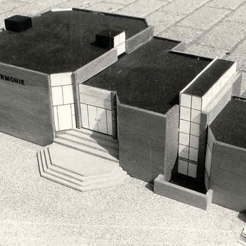 Maquette nieuwbouw 'De Harmonie'