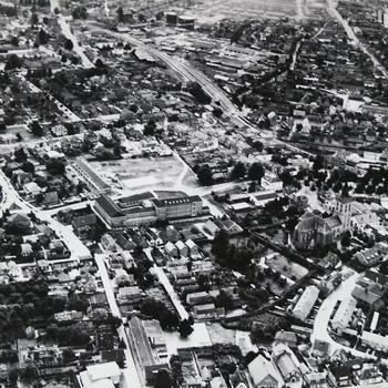 Ede centrum - luchtfoto