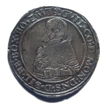 """Taler """"24-Stuiverstuk van graaf Willem IV""""  zilver, 1555 - 1567"""