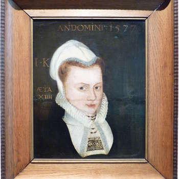 """Portret """"Meisje"""" op hout, 1577"""