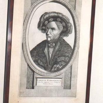 """Portret """"Carolus Egmondanus"""" op papier"""
