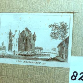 "Tekening ""De Magerhorst te Duiven"" op papier, 1762"