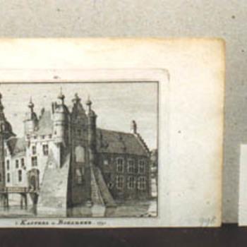 "Gravure ""'t Kasteel te Boxmeer.1741"" op papier"