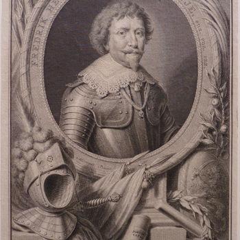 """Portret """"Portret van Frederik Hendrik, Prins van Oranje enz,enz."""" op papier"""